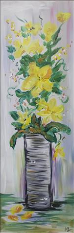 Tin Can Flowers 10x30 Canvas
