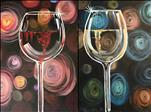 Happy Hour! Pick Red or White! Swirly Glasses