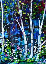 BIG CANVAS! Birch Wonderland