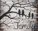 Rustic Family Tree REAL WOOD or Canvas