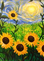 Van Gogh's Sunshine - LARGE Canvas! *Wine included