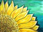 Sunflower on Teal