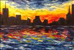 COLORFUL CITYSCAPE XXL 36X24*Public Event*
