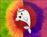Family Fun, Only $25!  Psychedelic Narwhal!