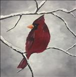 Mimosa Sunday! Winter Cardinal