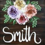 Rustic Family Name (12x12 canvas)