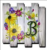 Personalized Happy Wreath Wood Door Hanger - 18&Up
