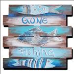 GONE FISHING *18+* wood pallet