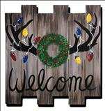 Rustic Holiday Antlers | Pallet Art