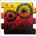 Dandelion Sunrise! Wood Pallet