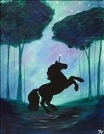 Kid's Stencil Day Special - Twilight Unicorn - $10