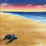 Baby Sea Turtle on a 12x12 Canvas
