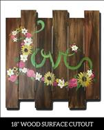 Wood Pallet - Flower Love 2Hr $39