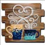 Coffee and Canvas, Wood Pallet, Coffee Lovers