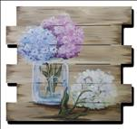 *NEW* Rustic Hydrangeas *ON WOOD!*