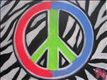 NEW! Zebra Peace Sign