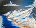 Local Artist Original NEW Art: Blue Moon Mountain