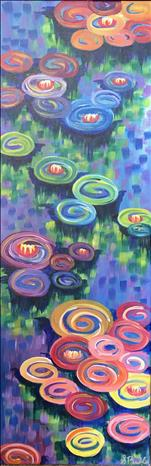 Kids Day Camp - Monet's Vibrant Lilies (10x30)