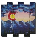 Wood Art: Colorado Sunset Pallet
