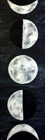 "LOOOONG 10""x30"" Canvas! ~Moon Phases~"