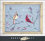 Rebecca Flott Screen Art - Cardinals in Winter