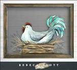Rebeca Flott Screen Art - Amber's Chicken $45