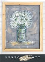 Rebeca Flott Screen Art - Baby's Breath in Jar $45