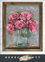 *NEW Rebeca Flott Screen Art* Pretty Pink Peonies