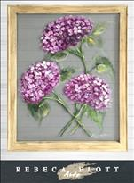 NEW! Rebeca Flott Screen Art - HYDRANGEAS! $45