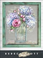 NEW Rebeca Flott Arts-Screen Art ~ Mary's Flowers