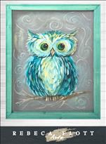 Rebeca Flott Screen Art-Owl Always Love You-$45
