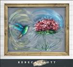 Rebeca Flott Arts - Happy Hummingbird