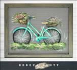 ENCORE SCREEN ART! RebecaFlottArts-Rustic Bike $45