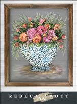NEW! Rebeca Flott Screen Art - MOM'S FLOWERS $45