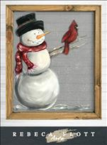 Rebeca Flott Arts - Snowman Screen Art @ May Farms