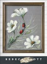 Rebeca Flott Arts - Ladybugs in Spring Screen Art