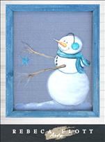 Rebecca Flott Screen Art - Starry Snowman