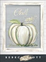 Rebeca Flott Screen Art-White Pumpkin-$45