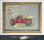 Rebecca Flott Screen Art - Red Truck in Spring