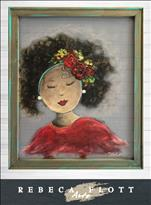 NEW! Rebeca Flott Screen Art Praying Woman $45