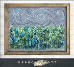 NEW! Rebeca Flott Screen Art Texas Wildflowers $45