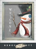 Rebeca Flott Arts - Welcome Snowman