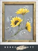 Rebeca Flott Screen Art -Rise and Shine Sunflowers
