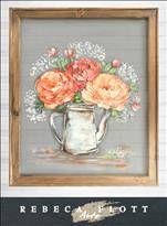 NEW!Rebeca Flott Screen Art  MUST HAVE FLOWERS $45