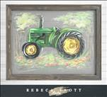SCREEN ART! Rebeca Flott Arts - Tractor $45