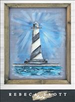 Paint on a Screen! Rebeca Flott Arts - Lighthouse