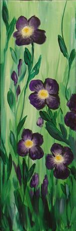 Pansy Perfection-10x30 Canvas