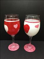 Valentine's Love Wine Glasses!