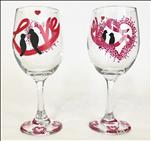 Wine Glasses Workshop!! Love Birds!!