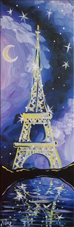 **10x30 LONG CANVAS** Enchanting Eiffel